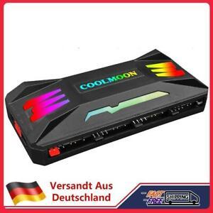 COOLMOON RGB Controller 4Pin PWM 5V 3Pin ARGB Fan Remote Control (Black)