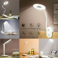 Flexible LED Reading Light USB Rechargeable Dimmable Touch Bedside Table Lamp UK