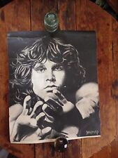 Jim Morrison Doors Charcoal Matte Poster Print By Bradford Salamon  RARE
