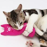 Teeth Grinding Catnip Toys Funny Interactive Plush Chewing Cat Kitten Toy.