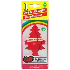 Little Tree Scented Hanging Air Freshener for Car & Home - Red Strawberry Fraise