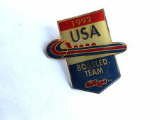 Cool Vintage 1992 USA Olympic Games Bobsled Team Kellogg Advertisng Pin Pinback
