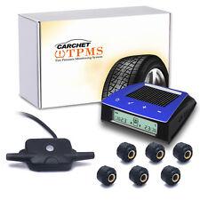 Carchet Wireless RV Solar Tire Pressure Monitor System TPMS + 6 External Sensor