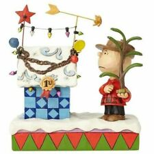 Peanuts by Jim Shore Charlie Brown & Decorated Doghouse - 4057673