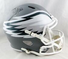 Brian Dawkins Autographed Eagles Full Size AMP Speed Helmet - JSA W Auth *Black