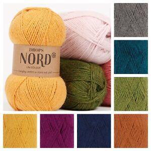 Drops Nord 4ply Supersoft Natural Alpaca Wool Knitting Yarn Socks Crochet