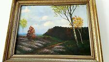 Wunderschönes altes Jenaer Landschaftsgemälde, Öl auf Holzplatte