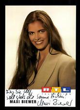 Maxi Biewer RTL Autogrammkarte Original Signiert # BC 93809