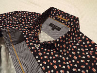 """TED BAKER Mens Shirt 🌍 Size 3 (38"""" CHEST) 🌎 RRP £110+ 📮 FANTASTICALLY FLORAL"""