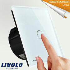 EU Version LIVOLO Wall Switch Digital Touch Screen - Modern Crystal Glass Panel