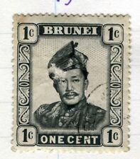 BRUNEI;  1952 early Sultan Saifuddin issue fine used 1c. value