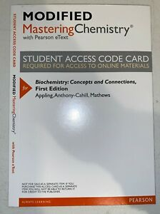 Mastering Chemistry w/ Pearson eText Student Access Code Card - Biochemistry 1ed