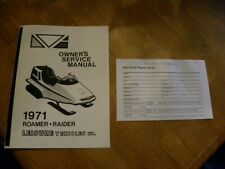 1971 Raider / Roamer Snowmobile Owners Manual and Warranty Card - copy