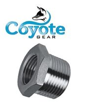 """316 Stainless 1/2"""" Male x 3/8"""" Female NPT Pipe Thread Hex Reducer Bushing SS"""