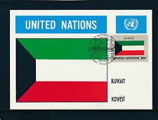 United Nations, Kuwait, Flaggen-Karte, Flags   12/5/15