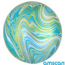 "Marblez Orbz Marble Effect 15"" Round Circle Shape Foil Balloons- Various Colours"