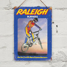 Raleigh Burner Advert Vintage Metal Wall Sign Plaque Mancave Bike Cycle BMX