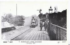 London Postcard - Trains - Brockley Lane Train Station - Closed in 1917 - U634