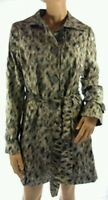 Ladies ex M&S Jacket Mac Trench Coat Animal Print Size 14 New