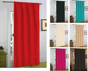 """Quilted Thermal Embossed Heat Saving Door Curtain 46"""" x 84"""" -7 Colours Available"""