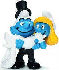 NEW SCHLEICH 20746 Bride & Groom Smurfs WEDDING theme