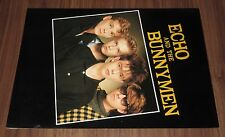 With Poster! Echo And The Bunnymen Japan Tour Book Jan 84 Ian McCulloch New Wave
