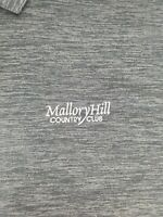 Mallory Hill Country Club Mens Oxford America Golf Polo Shirt Charcoal Size L