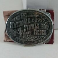 Vintage 1995 National Finals Rodeo Hesston NFR Youth Belt Buckle New NOS