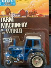 1/64 Ertl Ford 9700 Blue and White Stripe Tractor #1621