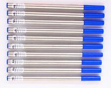 Jinhao Blue 10Pcs Ink Refills Medium Nib Pount Swiss Tip USA Ink Rollerball Pen