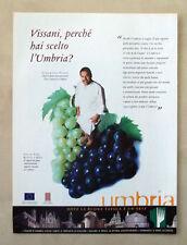 A789-Advertising Pubblicità-2000- UMBRIA - DOVE LA BUONA TAVOLA E' UN'ARTE