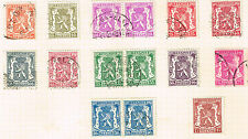 Belgium Coat of Arms stamps 1935