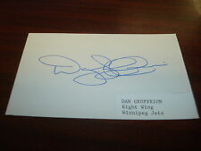 Dan Geoffrion NHL Montreal Canadiens Jets WHA Nordiques Signed 3X5 Index Card AN
