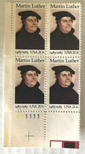 Scott #2065 MARTIN LUTHER block of 4 - 20 cent stamps