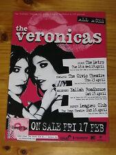 THE VERONICAS - 2006 SECRET LIFE OF...Australian Tour - Laminated Promo Poster