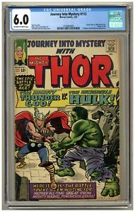 Journey into Mystery 112 (CGC 6.0) OW/W pgs; Thor vs. Hulk; Origin Loki (j#3968)