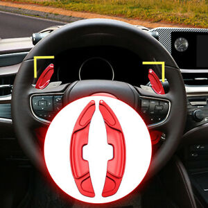 Alloy Red Gear Shift Paddle Steering Wheel For Lexus ES350 ES300h Accessories