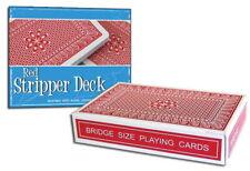Magic Red Stripper Deck - Bridge Size Trick