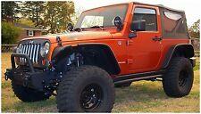 Bushwacker Flat Style Fender Flare Set 07-17 Jeep JK 2-Door, 10919-07