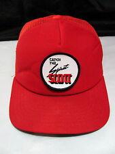 Vintage 70's New Era Catch The Spirit Scott Patch Snapback Hat Mesh Trucker Cap