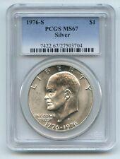 1976 S $1 Silver Ike Eisenhower Dollar PCGS MS67