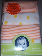 Gerber 100 Cotton Guaze Diaper Burp Cloths 4 Pack Neutral