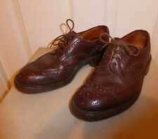 TRICKERS ILKLEY HEAVYWEIGHT BROWN LEATHER COUNTRY BROGUES SIZE 7.5 COMMANDO