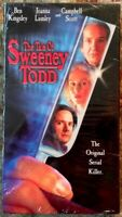 """""""The Tale Of Sweeney Todd"""" VHS Blockbuster Video Resealed Ben Kingsley"""