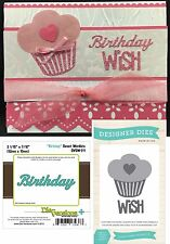 Birthday metal die set bundle - Cupcake Wish & Birthday Word cutting dies