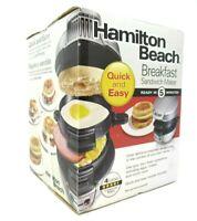 Hamilton Beach Quick and Easy Breakfast Sandwich Maker Silver Model 25475