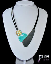 Kabel-Kette Halskette Kette Anhänger Emaille Versilbert Bi/&Jou Paris Design