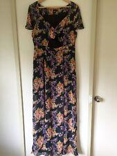 Asos Maxi Dress Size UK 16 Floral Boho