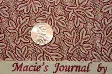 """""""CIVIL WAR MACIE'S JOURNAL"""" REPRODUCTION QUILT FABRIC BTY MARCUS 2365-0111"""
