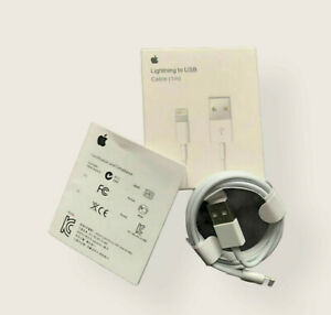 100% 1m GENUINE ORIGINAL OFFICIAL Apple iPhone  12/11/X/8/7/6 Charger USB Cable